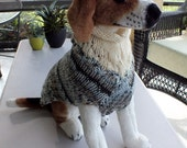 Dog Sweater Hand Knit Namaste 15 inches long