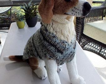 Dog Sweater Hand Knit Namaste 15 inches long