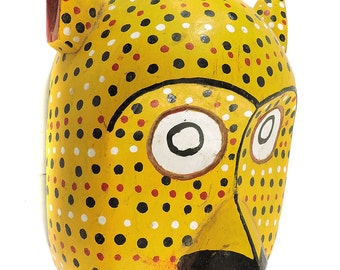 Bozo Mask Yellow Spotted with Ears Mali Africa 102621 SALE WAS 99
