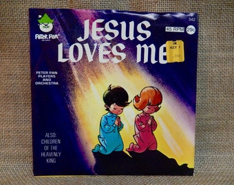 Jesus Loves Me - 1960s Vintage 45 rpm Vinyl  Record