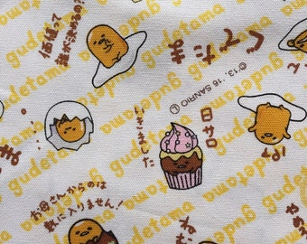 Gudetama fabric half yard