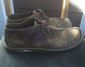 Awesome vintage clarks originals desert trek brown nubuck leather shoes moccasins mens 12