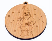 personalized santa // christmas ornament // wooden ornament // holiday decoration