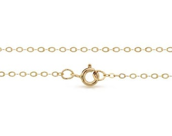 Finished Chains with spring ring clasp 14Kt Gold Filled 2.2x1.6mm 36 Inch Flat Cable Chain - 1pc (8079)