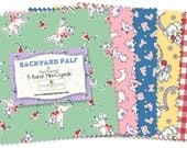"""Backyard Pals Charm pack of 24, 5"""" squares"""