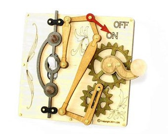 Levered Light Switch Plate - Natural Tones - 8003E