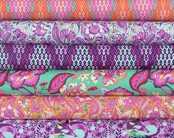 Half Yard Bundle of 6 from the Chipper Collection by Tula Pink for Free Spirit