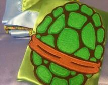 Teenage Mutant Ninja Turtles Blanket and Teenage Mutant Ninja Turtles  Cape (Made and Ready to Ship)