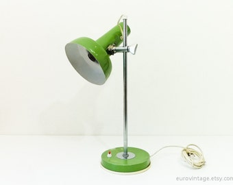 Vintage Large Desk Lamp Green Table Lamp 60s 70s
