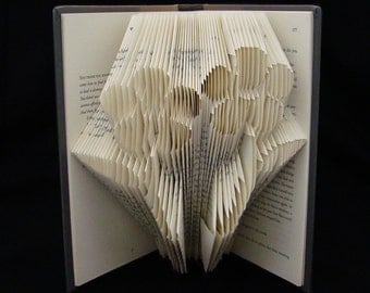 Two Flowers -- Friendship -- Daisy -- BFF -- Together -- Friend -- Partner -- Folded Book Art Sculpture