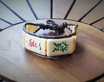 Mah Jongg Wrap Bracelet