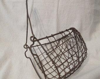 Vintage Wire Horse Mule Muzzle, Cribbing, Primitive, Rustic, Equine, Farming