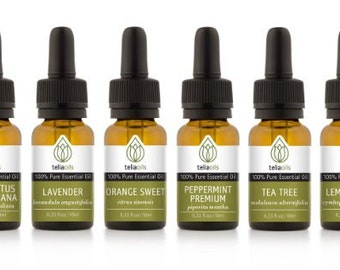 TOP- QUALITY Essential Oils, Set 6/10 Ml - 100% Pure, Therapeutic Grade, for Aromatherapy Gift Collection
