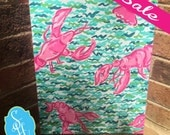 11x14 Preppy Canvas inspired by Lilly Pulitzer Lobstah Roll