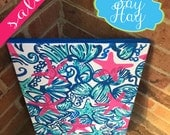 11x14 Preppy Canvas inspired by Lilly Pulitzer She She Shells
