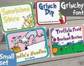 Dr. Seuss Food Labels - Small Set of 14 - for Dr Seuss Party, Dr Seuss Baby Shower, Dr Seuss Birthday, Dr Seuss Printable, Dr Seuss Menu