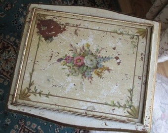 hand painted roses side table shabby chic victorian furniture