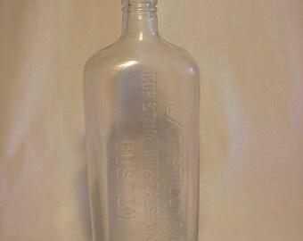 c1915 Rex Distilling Co. Boston Mass. ,Cork Top Quart Whiskey Bottle Flask