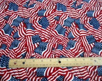 American Pride Flags Wave premium cotton fabric from Fabri-Quilt  Patriotic/United States/American Flag/ Memorial Day