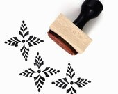 Rubber Stamp Four Point Scandinavian Pattern #1 - Hand Drawn Geometric Pattern Stamp