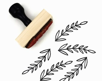 Rubber Stamp Long Branch - Border Pattern Hand Drawn Stamp