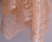 Soft Draping Scalloped Lace Infinity Veil Scarf Mantilla Catholic Prayer Veil Holy Mass Holy Communion