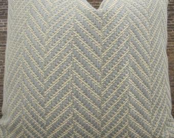 3BM Designer Pillow Cover  - Zig Zag Light Blue