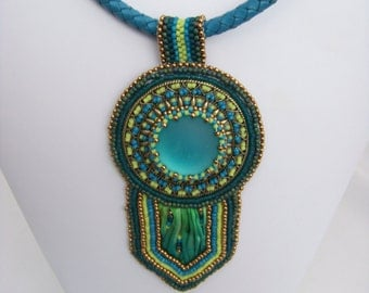 Shibori Medallion Pendant Necklace
