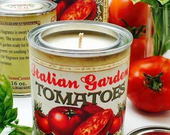 16 oz Garden Fresh Tomato Can Candle