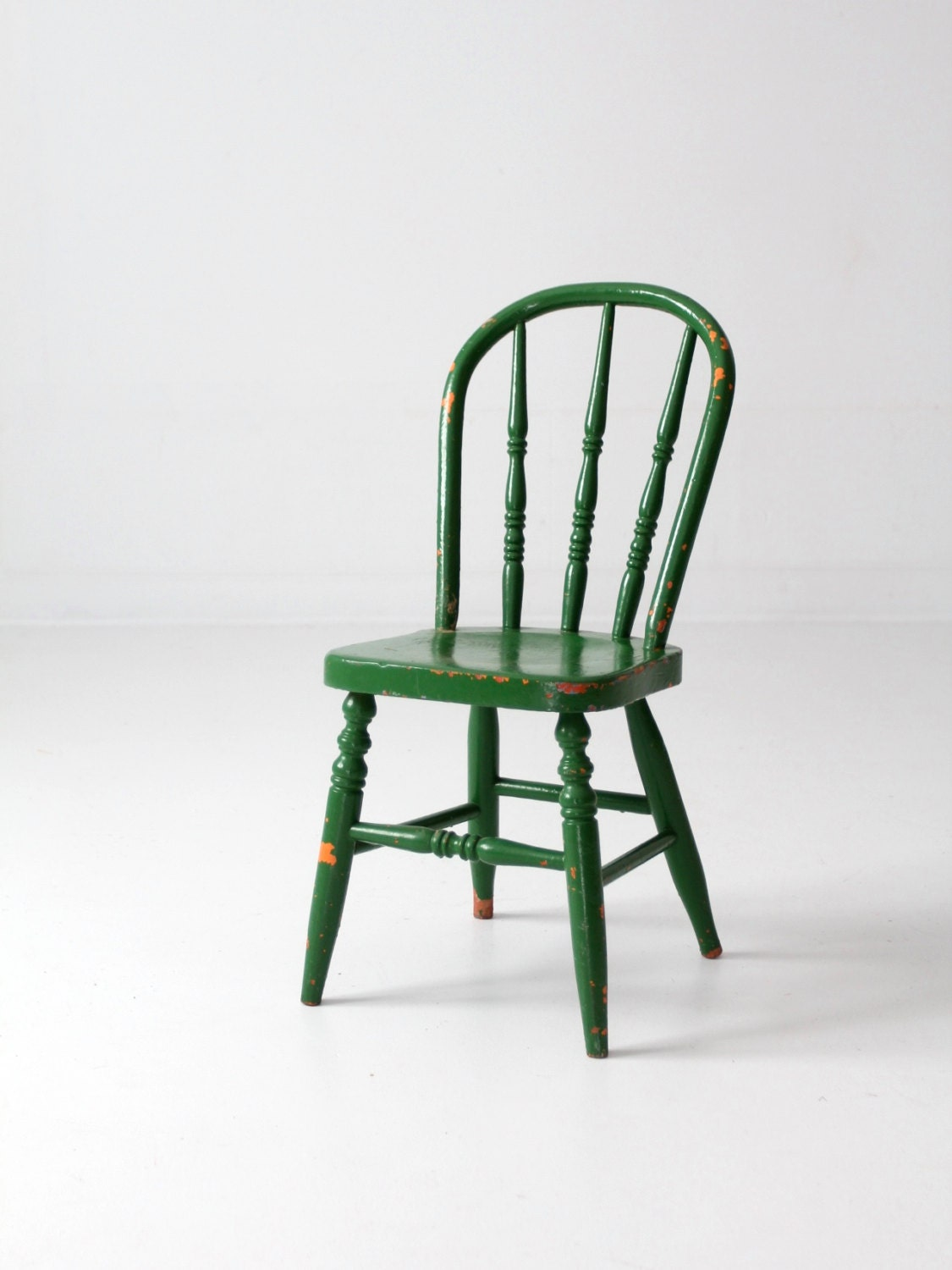 Antique Kid 39 S Chair Green Painted Spindle Chair