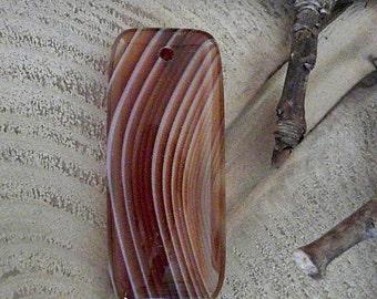 Red Onyx Agate Rectangular Gemstone Pendant                          CC-20950-2