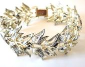 Vintage Bracelet CORO Pegasus Tulips 40s Retro Victorian Revival Art Nouveau Bride Prom Mother