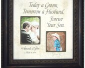 Dad Wedding Gift, Mother of the Groom, Wedding Gift for Parents, Personalized Picture Frames, TODAY A GROOM, Shower, Reception, 16 X 16