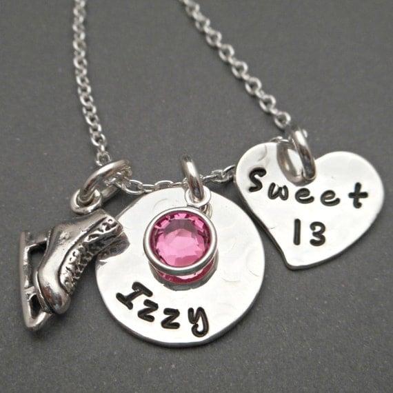 Sweet 16 Charm Bracelet: Sterling Silver Sweet 16 Necklace Charm Neclace Sweet