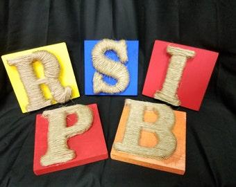 Handmade Letter Blocks