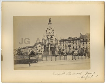 Brunswick Monument, Geneva, Switzerland - 19th Century Albumen Photograph