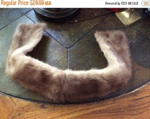 Summer Sale Vintage Brown Rabbit fur Collar fully lined darling very good shape and condition