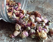 Dried Rose Buds, Rosa damascena, Dried Flower, Locally Sourced, For use in Soaps, Lotions, Creams, Balms, Salves, Teas, and Home Remedies