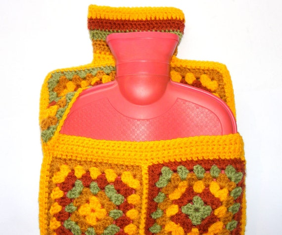 Crochet pattern - hot water bottle cover using granny ...