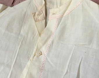 Antique Handmade Cotton Baby Gown So Simple