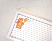 Vintage Recipe Cards with Baking Teddy Bears 3x5 Recipe Card Set 1980s