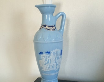 Jim Beam Grecian Bourbon Decanter with ORIGINAL LABELS / RARE/ Man cave / gifts for him / Vintage barware /