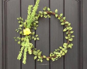 Spring Wreath Summer Wreath Woodsy Wispy Grapevine Door Wreath Decor Thin Wreath Mirror Between Doors Dainty Baby Wedding Shower