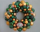 GREEN BAY PACKERS Ornament Wreath Team Football Wreath