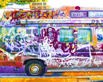 Graffiti Van - Road Trippin Urban Fine Art Photograph