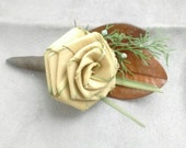 Palmetto Rose Boutonnieres (1 included)