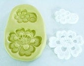Silicone Alencon Lace mold for cake decorating, chocolate clay mold, polymer clay mold, wedding cake lace mold, resin mold M1002