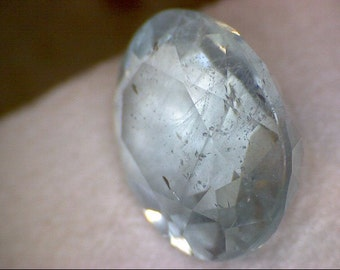 Stunning Faceted Antero Aquamarine Gemstone