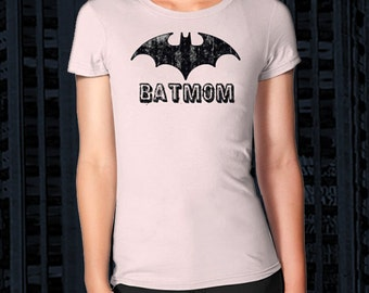 BATMOM Shirt, Fitted Women's Style Tee, All Sizes & Colors