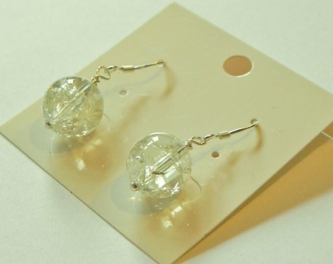 Crackled citrine gemstone sterling silver earrings|November birthstone|yellow gemstone|lemon yellow gemstone|citrine earrings